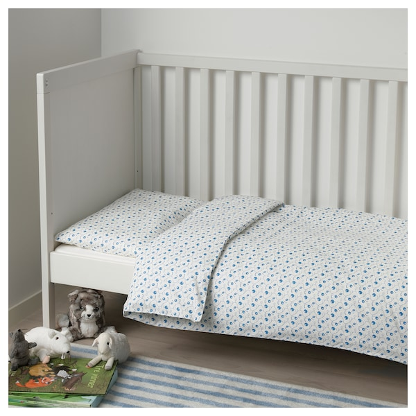gulsparv bettw sche 2 tlg f baby blaubeermuster ikea. Black Bedroom Furniture Sets. Home Design Ideas