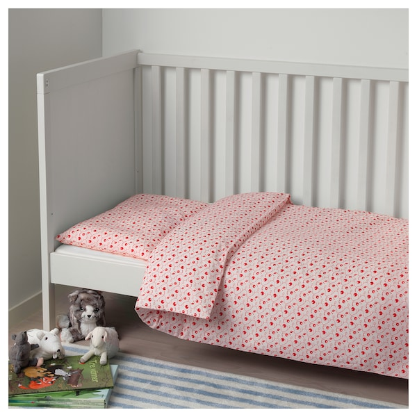 gulsparv bettw sche 2 tlg f baby preiselbeermuster ikea. Black Bedroom Furniture Sets. Home Design Ideas
