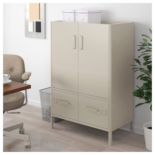 id sen schrank mit t ren schubladen beige ikea. Black Bedroom Furniture Sets. Home Design Ideas
