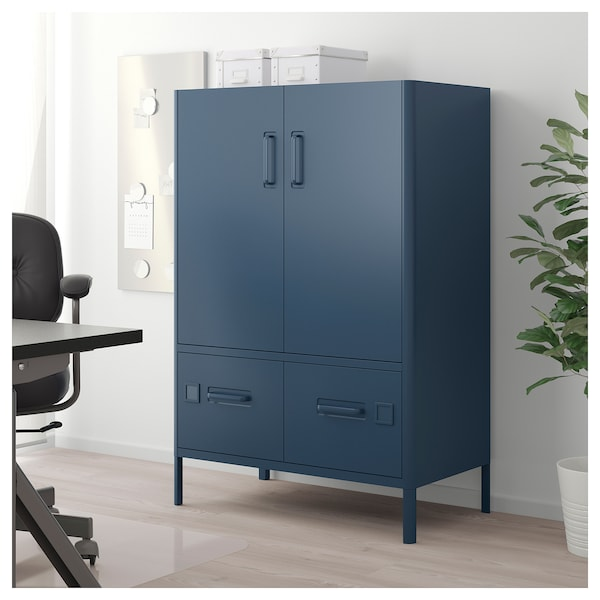 id sen schrank mit nfc schloss blau ikea. Black Bedroom Furniture Sets. Home Design Ideas