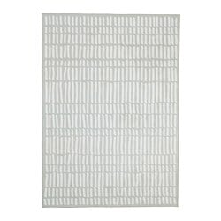 OMTÄNKSAM rug, flatwoven, light grey, white