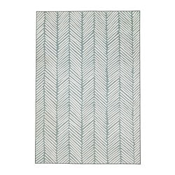 OMTÄNKSAM rug, flatwoven, green, light grey