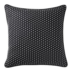 MALINMARIA cushion, dark grey, white dotted