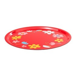 SOMMAR 2019 tray, flower, red