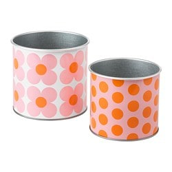 SOMMAR 2019 plant pot, set of 2, patterned
