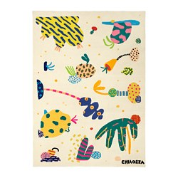 IKEA ART EVENT 2019 tapis, poils ras, multicolore