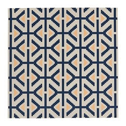 ÖVERALLT rug, flatwoven, indoor/outdoor natural, blue