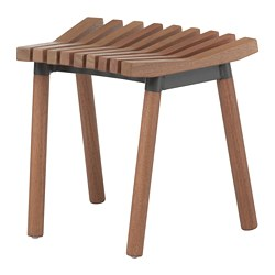 ÖVERALLT stool, outdoor light brown