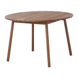 ÖVERALLT table, outdoor light brown