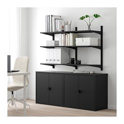 ALGOT / BROR Shelving unit with cabinet