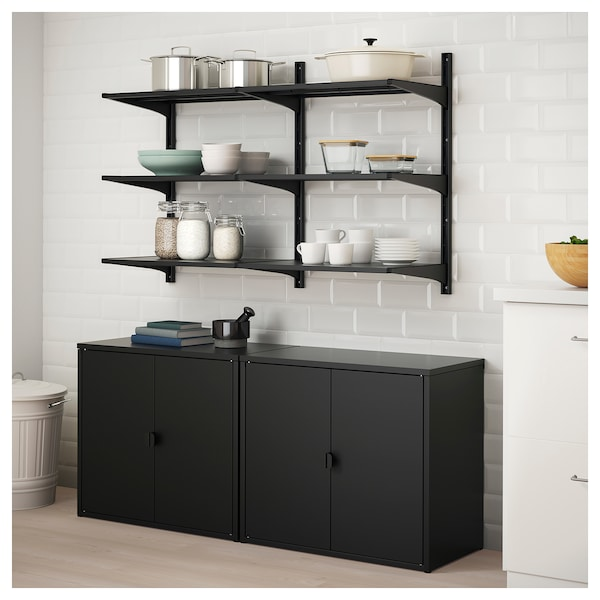 IKEA ALGOT / BROR Shelving unit with cabinet