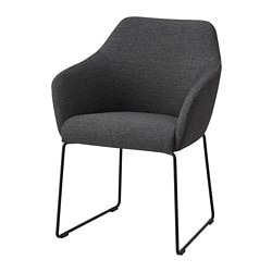 TOSSBERG chair, metal black, grey