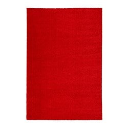 LANGSTED tapis, poils ras, rouge