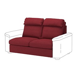 LIDHULT loveseat sleeper section, Lejde red-brown