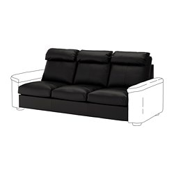 LIDHULT 3-seat section, Grann/Bomstad black