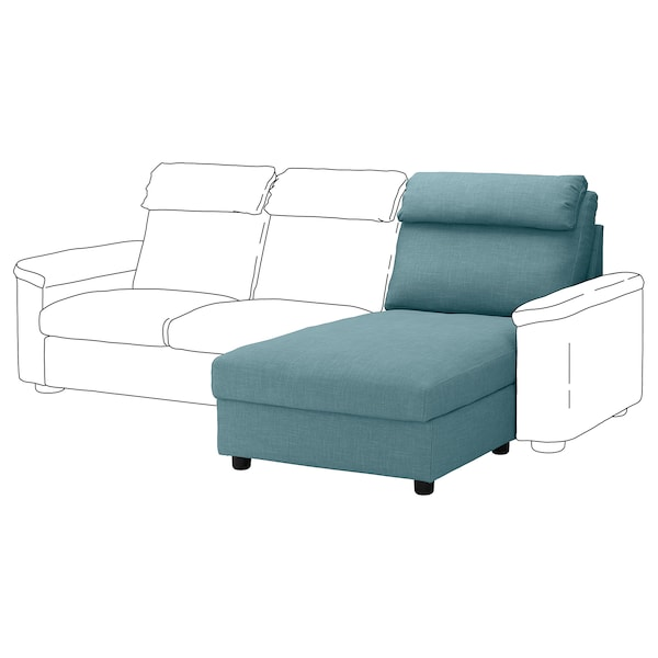 Sofa Chaise Longue Ikea.Cover For Chaise Longue Section Lidhult Gassebol Blue Grey