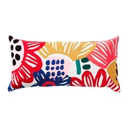 SOMMARASTER cushion, white, multicolour