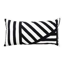 SKÄRVFRÖ cushion, black, white