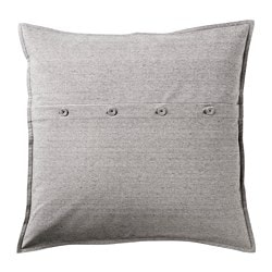 KRISTIANNE cushion cover, white, dark gray stripe