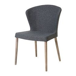 ODDMUND chair, oak veneer brown stained, Gunnared dark gray
