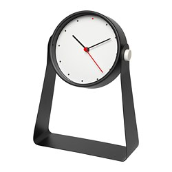 GNISSLA table clock, black