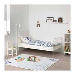 Minnen Ext Bed Frame With Slatted Base White Ikea Family