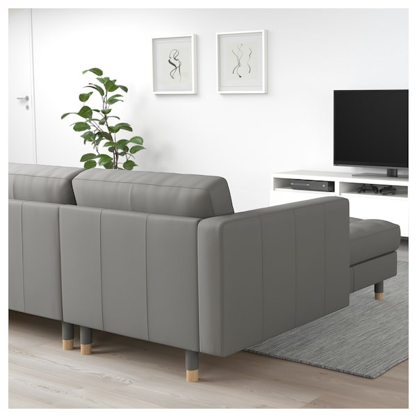landskrona 3er sofa mit r camiere grann bomstad graugr n holz ikea. Black Bedroom Furniture Sets. Home Design Ideas