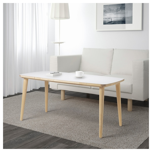 Coffee Table Desk.Coffee Table Omtanksam White Birch