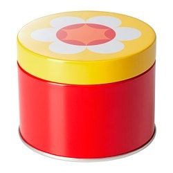SOMMAR 2019 tin with lid, red/yellow