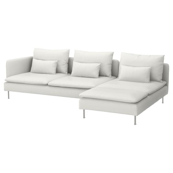 Sectional 4 Seat SÖderhamn With Chaise And Open End Finnsta White