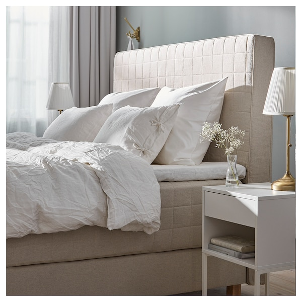 hommelvik boxspringbett hidrasund fest tistedal naturfarben ikea. Black Bedroom Furniture Sets. Home Design Ideas