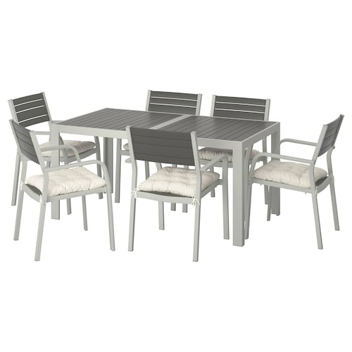 IKEA SJÄLLAND Table+6 armchairs, outdoor