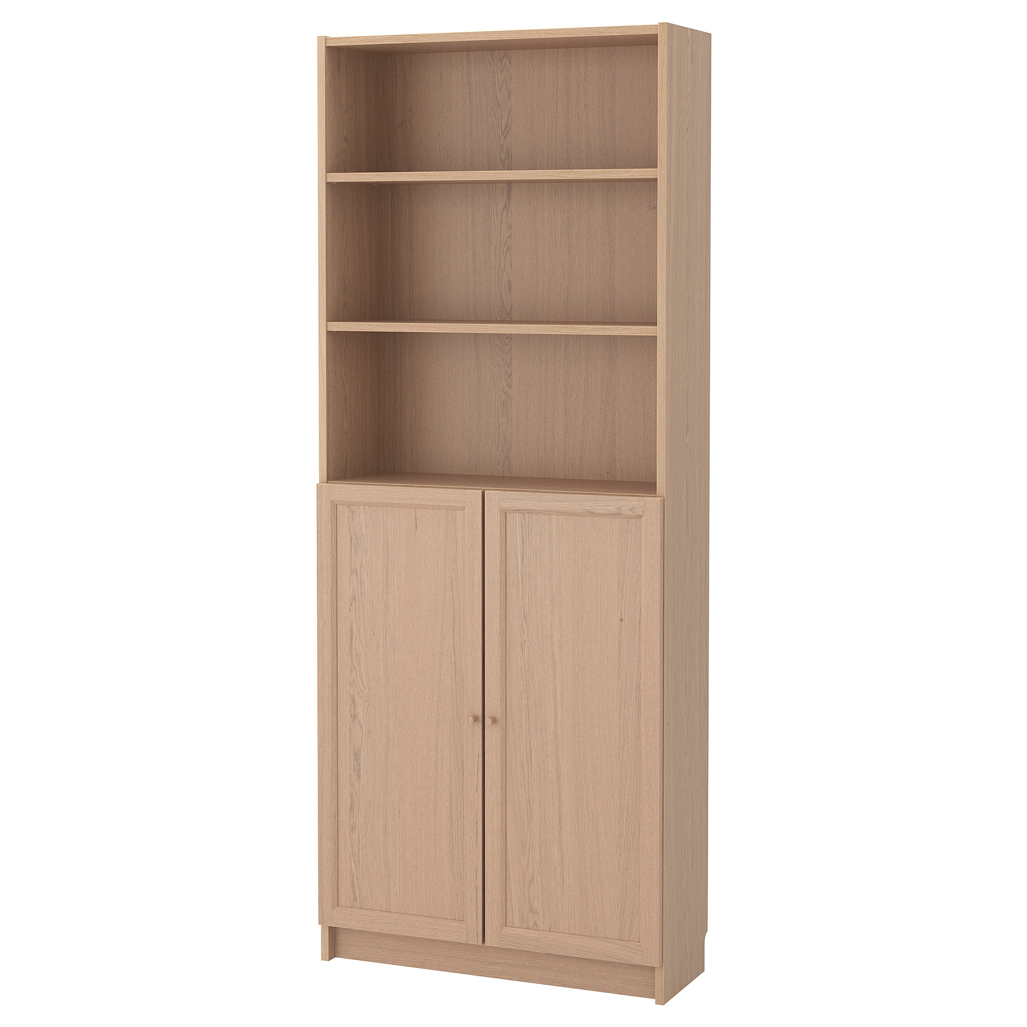 Bookcase With Doors Billy Oxberg White Stained Oak Veneer