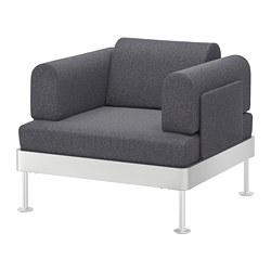 DELAKTIG armchair, Gunnared medium grey