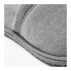 TÅSJÖN slippers, gray