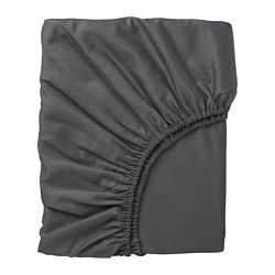 NATTJASMIN fitted sheet, dark gray