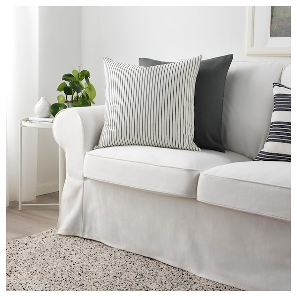 Admirable Cushion Cover Ingalill White Dark Grey Striped Cjindustries Chair Design For Home Cjindustriesco
