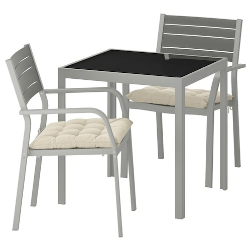 IKEA SJÄLLAND Table+2 armchairs, outdoor
