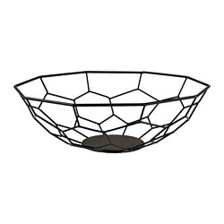 ARBETE decorative bowl, black
