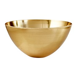LINDRANDE decorative bowl, brass color