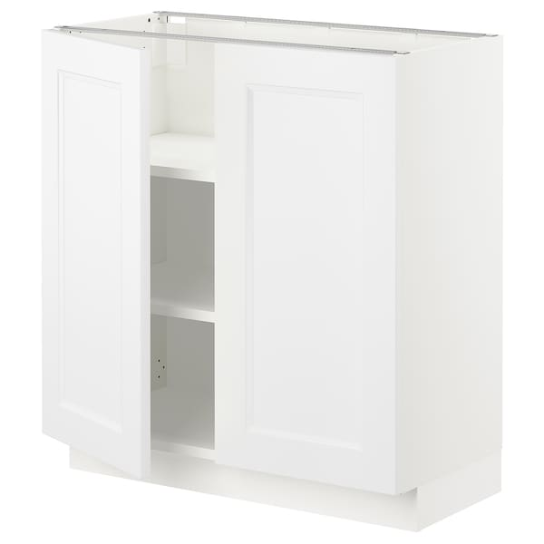 Incredible Sektion Base Cabinet With Shelves 2 Doors White Axstad Matt White Complete Home Design Collection Epsylindsey Bellcom