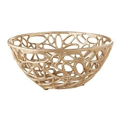 ARBETE decorative bowl, brass color