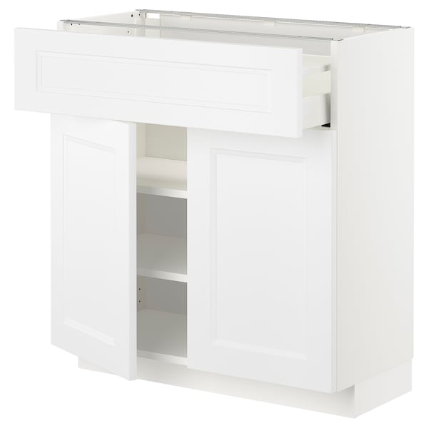 Consolle Bianca Ikea.Base Cabinet With Drawer 2 Doors Metod White Axstad Matt White