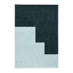 KONGSTRUP rug, high pile, light blue, green