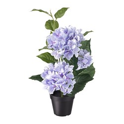 FEJKA artificial potted plant, in/outdoor, Hydrangea lilac