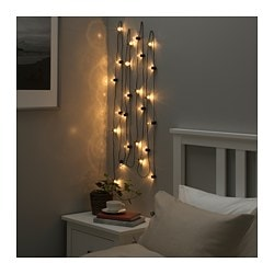 BlÖtsnÖ Led String Light With 24 Lights Indoor Black
