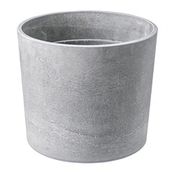 BOYSENBÄR plant pot, in/outdoor light grey