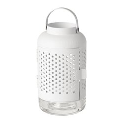 ÄDELHET lantern for tealight, white