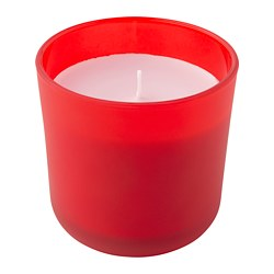 SOMMAR 2019 scented candle in glass, red Rhubarb, red