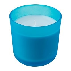 SOMMAR 2019 scented candle in glass, blue Blueberry, blue